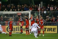 David Beckham TFC contro calcio della galassia MLS della LA Fotografia Stock Libera da Diritti