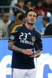 David Beckham TFC gegen Fußball der LA Galaxie-MLS Lizenzfreie Stockbilder