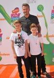 David Beckham u. Romeo James Beckham u. Cruz David Beckham stockbilder