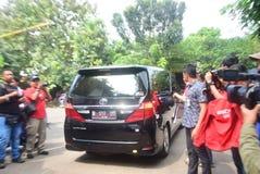 David Beckham Visit la ciudad de Semarang imágenes de archivo libres de regalías