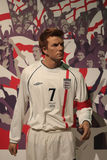 David Beckham. Wax statue at Madame Tussauds in London stock photo
