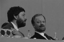 David Blunkett och Robin Cook 1993 arkivbild