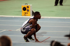 David Bolarinwa after the 200 meters final Royalty Free Stock Photography