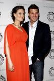 David Boreanaz,Emily Deschanel Royalty Free Stock Photos