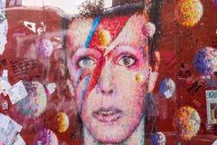 David Bowie αναμνηστικό Brixton, Λονδίνο στοκ εικόνες