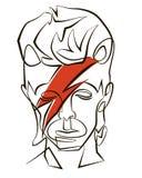 David Bowie ilustración del vector