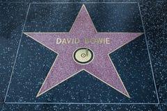 David Bowie gwiazda hollywoodu Fotografia Royalty Free