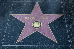 David Bowie Hollywood Star Royalty Free Stock Photography