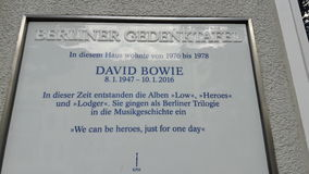 David Bowie House Berlin Fotografia de Stock