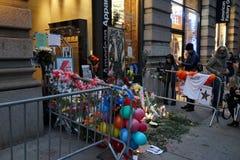David Bowie Memorial At 285 Lafayette gata 16 Royaltyfria Foton