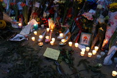 David Bowie Memorial At 285 Lafayette gata 40 Arkivfoto