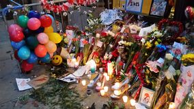 David Bowie Memorial At 285 Lafayette Street 2 Stock Photo