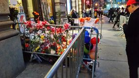 David Bowie Memorial At 285 Lafayette Street 8 Royalty Free Stock Images