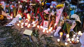 David Bowie Memorial At 285 Lafayette Street 10 Stock Photos
