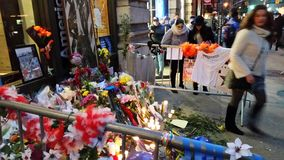 David Bowie Memorial At 285 Lafayette Street 13 Stock Photos
