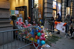 David Bowie Memorial At 285 Lafayette Street 16 Royalty Free Stock Photos