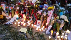 David Bowie Memorial At 285 Lafayette Street 30 Royalty Free Stock Photos