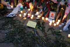 David Bowie Memorial At 285 Lafayette Street 38 Stock Images