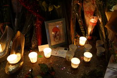 David Bowie Memorial At 285 Lafayette Street 61 Stock Images