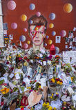 David Bowie Mural in Brixton Fotografia Stock
