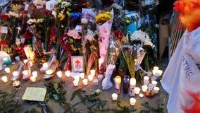 David Bowie pomnik Przy 285 Lafayette ulicą 1 obraz stock