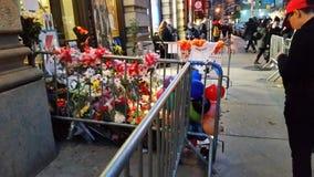 David Bowie pomnik Przy 285 Lafayette ulicą 8 obrazy royalty free
