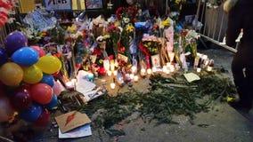 David Bowie pomnik Przy 285 Lafayette ulicą 11 zdjęcia stock