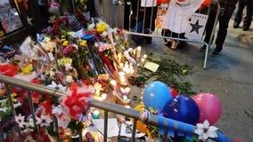 David Bowie pomnik Przy 285 Lafayette ulicą 12 obrazy royalty free