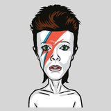 David Bowie Pop Art Vetora Portrait Imagens de Stock