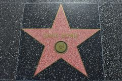 David Bowie's star at Hollywood Walk of Fame Royalty Free Stock Photo