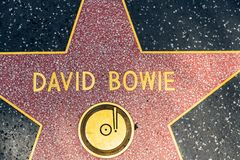 David Bowie Star on Hollywood Walk of Fame royalty free stock photos