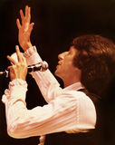 David Brenner. David  Brenner performs in-concert at the Drury Lane East Theatre in Chicago, Illinois, in 1980.   Brenner was a pioneer of observational comedy Stock Image