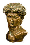 David bronze bust isolated Royalty Free Stock Photography