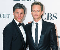 David Burtha und Neil Patrick Harris stockbild