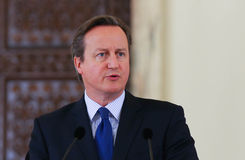 David Cameron fotografia royalty free