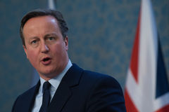 David Cameron Obraz Royalty Free