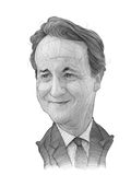 David Cameron-Karikatur-Skizze Lizenzfreies Stockbild