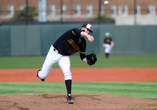 David Carroll - college baseball pitcher Royalty Free Stock Image