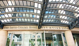 The David Citadel Hotel. Is a luxury hotel next to the old city in Jerusalem. The hotel hosts VIPs,including head of states politicians and celebrities Royalty Free Stock Photo