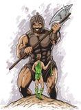 David contra Goliath ilustração do vetor