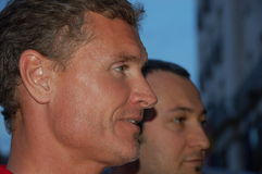 David Coulthard. Ex-F1 friver David Coulthard arrived to Budapest and met his fans on July 29, 2010 in Budapest, Hungary Royalty Free Stock Photography