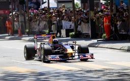David Coulthard beschleunigt das gerade an einer Demo F1 Lizenzfreie Stockbilder