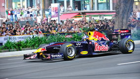 David Coulthard driving Red Bull Racing F1 car Royalty Free Stock Photos