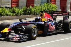 David Coulthard en coche de la fórmula 1 Fotografía de archivo