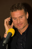 David Coulthard no canal adutor de Moscovo imagem de stock