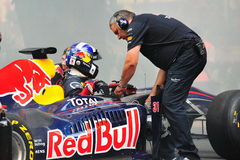 David Coulthard in the Red Bull Racing F1 car Royalty Free Stock Photos