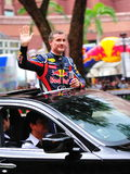 David Coulthard waving to spectators Stock Photography