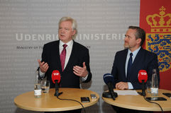 DAVID DAVIS FOREIGN SECT.WITH ANDERS SAMUELSEN Stock Photos