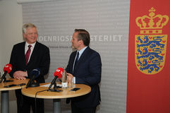 DAVID DAVIS FOREIGN SECT.WITH ANDERS SAMUELSEN Royalty Free Stock Image