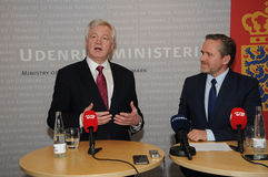 DAVID DAVIS FOREIGN SECT.WITH ANDERS SAMUELSEN Royalty Free Stock Photo